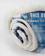 """Dad To Son I believe in you Small Fleece Blanket - 30"""" x 40"""" aos-coral-fleece-blanket-30x40-lifestyle-front-18"""