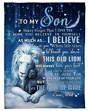 """Dad To Son I believe in you Small Fleece Blanket - 30"""" x 40"""" front"""