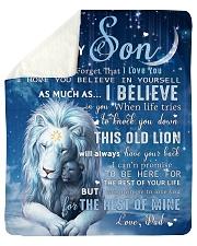 Dad To Son I believe in you Sherpa Fleece Blanket tile