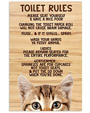 Toilet Rules 11x17 Poster front