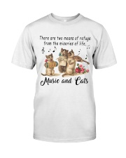 Music And Cats Classic T-Shirt front