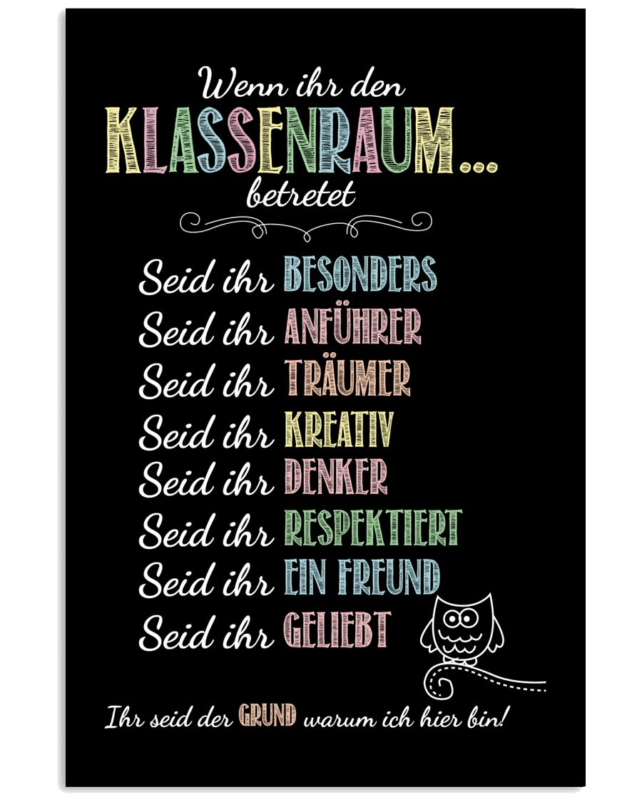 Classroom Rules - German 24x36 Poster