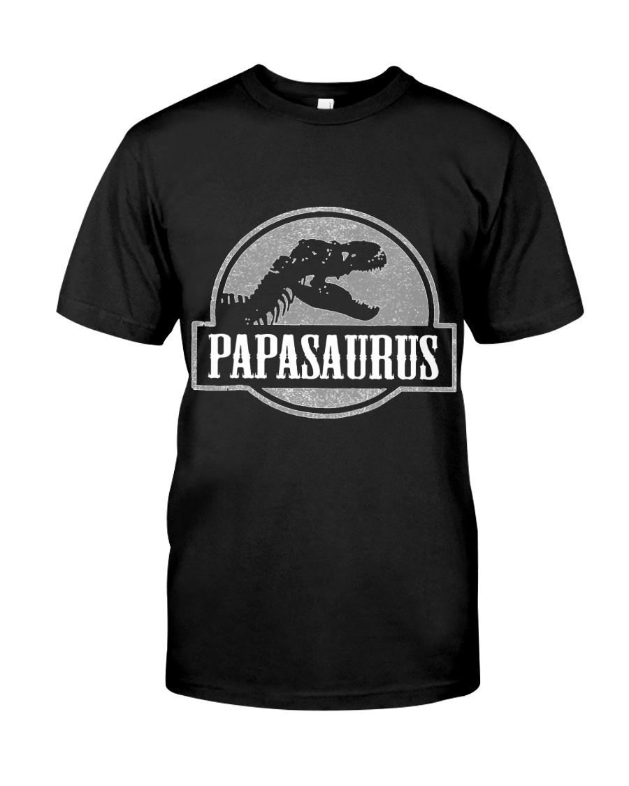 Mens Jurassic Papasaurus Rex Dinosaur Tee For Dad  Classic T-Shirt