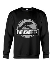 Mens Jurassic Papasaurus Rex Dinosaur Tee For Dad  Crewneck Sweatshirt thumbnail