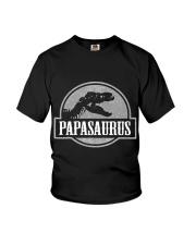 Mens Jurassic Papasaurus Rex Dinosaur Tee For Dad  Youth T-Shirt thumbnail