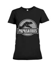 Mens Jurassic Papasaurus Rex Dinosaur Tee For Dad  Premium Fit Ladies Tee thumbnail