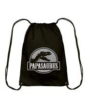 Mens Jurassic Papasaurus Rex Dinosaur Tee For Dad  Drawstring Bag thumbnail