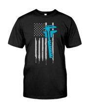 Machinist T Shirt  4th of July US American Classic T-Shirt front