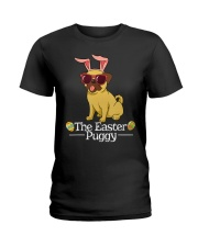 Funny Easter Pug Shirt - Easter Puggy Bun t Ladies T-Shirt thumbnail