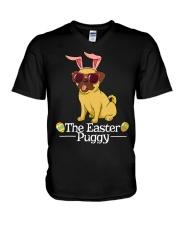 Funny Easter Pug Shirt - Easter Puggy Bun t V-Neck T-Shirt thumbnail