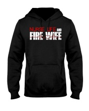 Nurse life and Fire Wife Firefi Hooded Sweatshirt thumbnail