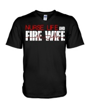 Nurse life and Fire Wife Firefi V-Neck T-Shirt thumbnail