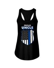 Thin Blue Line Proud Uncle Badge Shirt Ladies Flowy Tank thumbnail