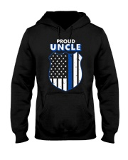 Thin Blue Line Proud Uncle Badge Shirt Hooded Sweatshirt thumbnail