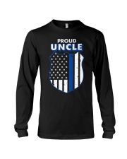 Thin Blue Line Proud Uncle Badge Shirt Long Sleeve Tee thumbnail