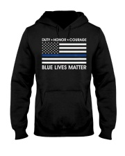 Duty Honor Courage  Blue Lives Matter Polic Hooded Sweatshirt tile