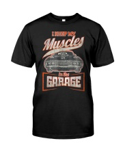I Keep My Muscles In The Garage Mechanics  Premium Fit Mens Tee thumbnail