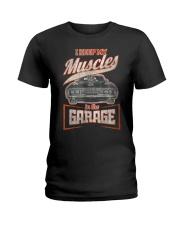 I Keep My Muscles In The Garage Mechanics  Ladies T-Shirt thumbnail