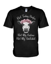 Not Today Heifer Not My Pasture Not My Bullsh V-Neck T-Shirt thumbnail