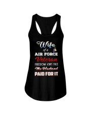 Wife Of A Air Force Veteran T Shirt Ladies Flowy Tank tile