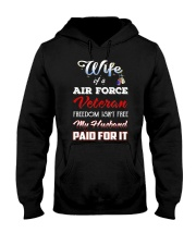 Wife Of A Air Force Veteran T Shirt Hooded Sweatshirt thumbnail