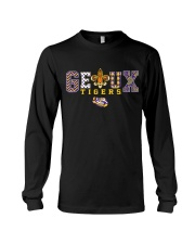 LSU Tigers Team Slogan Pattern Purple and gold Bat Long Sleeve Tee thumbnail
