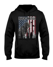 Black Labzilla Amercian Labrador Retriever T Hooded Sweatshirt thumbnail