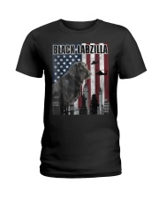 Black Labzilla Amercian Labrador Retriever T Ladies T-Shirt thumbnail