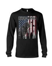 Black Labzilla Amercian Labrador Retriever T Long Sleeve Tee thumbnail