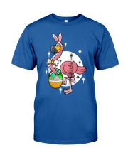 Happy Easter Flamingos Hunting Eggs Flamingo t Classic T-Shirt front