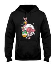 Happy Easter Flamingos Hunting Eggs Flamingo t Hooded Sweatshirt thumbnail