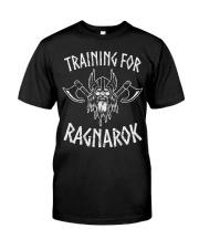 Mens Viking Train For Ragnarok Gym T Classic T-Shirt front