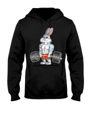 Easter Bunny Bodybuilding Gym Fitness Wo t Hooded Sweatshirt front
