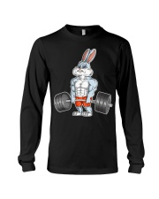 Easter Bunny Bodybuilding Gym Fitness Wo t Long Sleeve Tee thumbnail