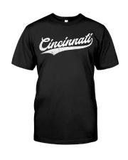 Cincinnati Baseball  Ohio Pride Vintage Re Classic T-Shirt front
