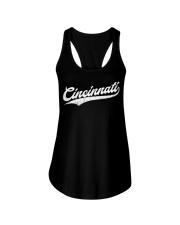 Cincinnati Baseball  Ohio Pride Vintage Re Ladies Flowy Tank thumbnail