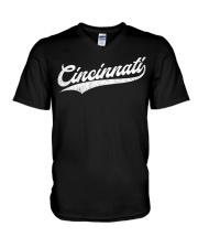 Cincinnati Baseball  Ohio Pride Vintage Re V-Neck T-Shirt thumbnail