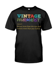 Vintage Pharmacist Knows More Than She Says  Premium Fit Mens Tee thumbnail