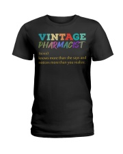 Vintage Pharmacist Knows More Than She Says  Ladies T-Shirt thumbnail