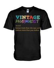 Vintage Pharmacist Knows More Than She Says  V-Neck T-Shirt thumbnail