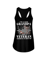 I'm A Dad Grandpa T-Shirt Veteran Father's  Ladies Flowy Tank thumbnail