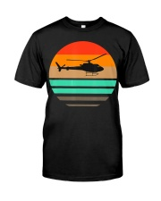 Vintage Helicopter Pilot T Shirt - Pilot and Premium Fit Mens Tee thumbnail