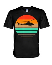 Vintage Helicopter Pilot T Shirt - Pilot and V-Neck T-Shirt thumbnail