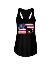 american flag labrador shirt  usa flag  Ladies Flowy Tank thumbnail