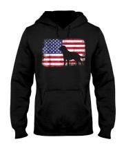 american flag labrador shirt  usa flag  Hooded Sweatshirt thumbnail