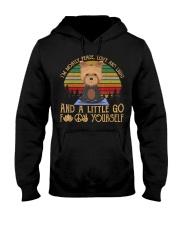 I'm Mostly Peace Love Light Yorkie Dog Tshir Hooded Sweatshirt thumbnail