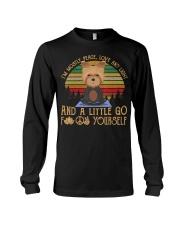 I'm Mostly Peace Love Light Yorkie Dog Tshir Long Sleeve Tee thumbnail