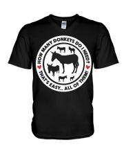 How Many Donkeys Do I Need Premium TShirt V-Neck T-Shirt thumbnail