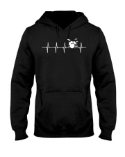 Drums Heartbeat TShirt for Drummers   Hooded Sweatshirt thumbnail
