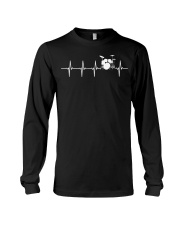 Drums Heartbeat TShirt for Drummers   Long Sleeve Tee thumbnail